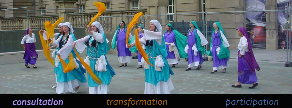 Services - Dancing outside World Museum Liverpool - Liverpool Arabic Festival
